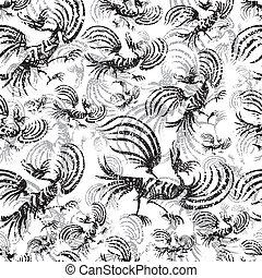dragon-bird pattern  - Seamless chinese dragon-bird pattern