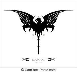 dragon. black dragon