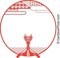 Dragon boat banner illustration