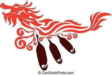Dragon boat graphic design - Dragon graphic design with...