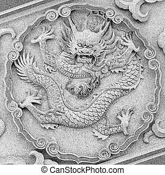 Dragon carving at temple