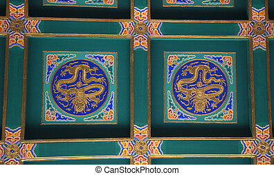 Dragon Ceiling Longevity Hill Tower of the Fragrance of the Buddha Summer Palace Beijing China