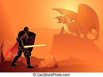 dragon, chevalier
