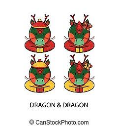 Dragon Chinese Happy New Year