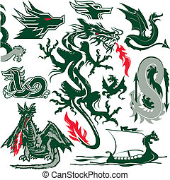Dragon Collection - Clip art of dragons and dragon-themed...
