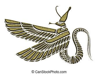 Dragon - demon of ancient Egypt