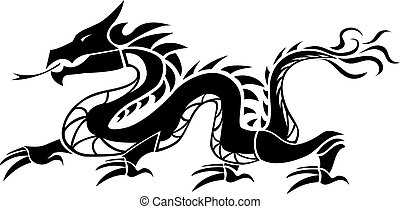 Dragon isolated on white