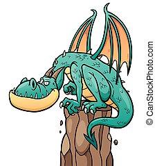 Dragon - Cartoon Dragon