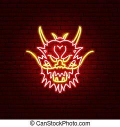 Dragon Face Neon Sign
