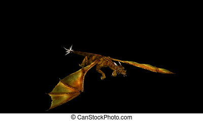 Dragon Flying Gold 03