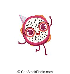 Dragon Fruit Girly Cartoon Character