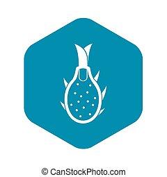Dragon fruit icon, simple style