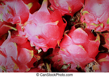Dragon fruit in the market
