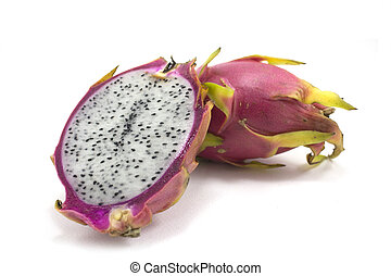 dragon fruit isolated on white