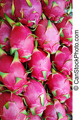 Dragon fruit on market Thailand.