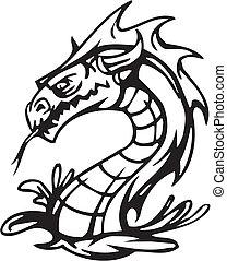 Dragon - Halloween Set - vector illustration