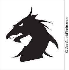 dragon head - suitable for game icon, game developer, RPG...