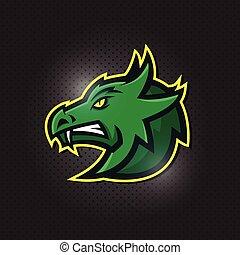 dragon head esport mascot logo