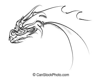 dragon head isolated on a white background