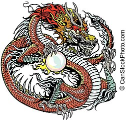 dragon holding pearl - chinese dragon holding pearl , tattoo...