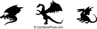 dragon icon isolated on background