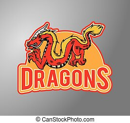 Dragon Illustration design badge
