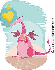 dragon - vector illustration of a dragon