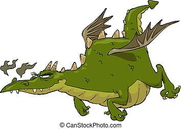 Dragon in flight