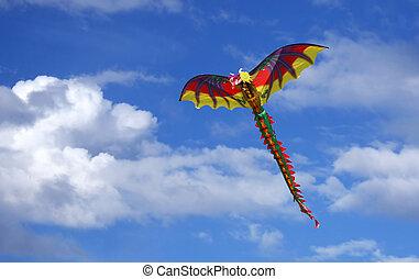 Dragon Kite in the Sky