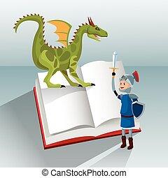 dragon knight book tale fantasy