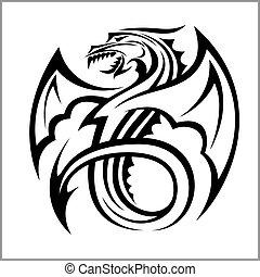 Dragon logo,Dragon,Vector Logo Template isolated on white
