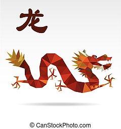 Dragon low polygon art