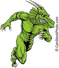 Dragon mascot running
