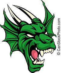 Dragon Mean Animal Mascot - An illustration of a dragon...