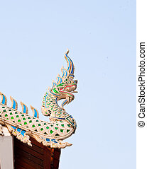 Dragon on the roof of the temple.