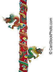 dragon on the shrine pole