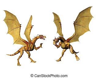Dragon Pair - A Pair of dragons who seem to have a...