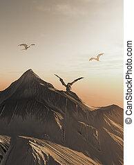 Dragon Peak at Sunset