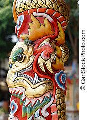 Dragon pole detail