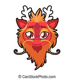 Dragon portrait illustration