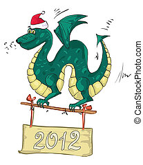 dragon santa hat