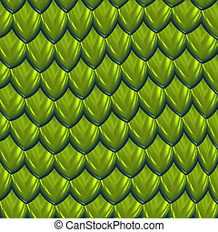 vector image of green dragon scales