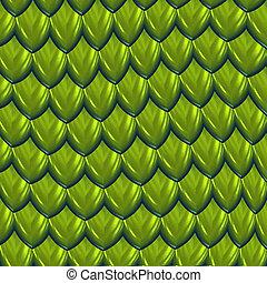 dragon scales vector - vector image of green dragon scales