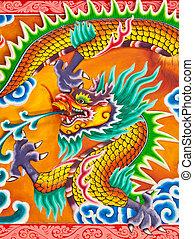Dragon sculpture in Thailand temple