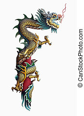 Dragon statue - Chinese style dragon statue with Clipping...