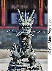 Dragon Statue Forbidden City Beijing China