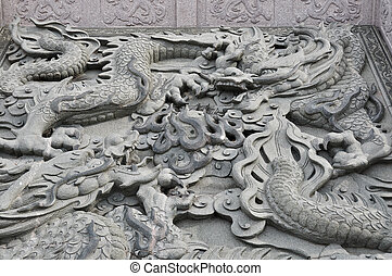 Dragon statue in chinese temple