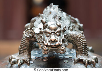 dragon statue in the The Jade Buddha Temple shanghai china