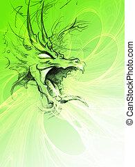 Dragon - Paint of a dragon.
