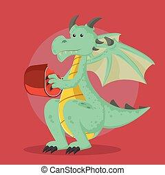 dragon vector illustration design